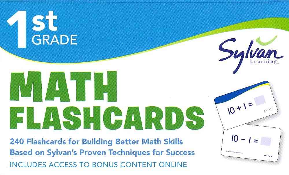 First Grade Math Flashcards By Sylvan Learning (COR)